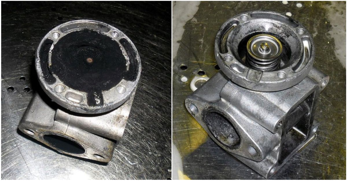 Cleaning egr valve with parts cleaning machine Torrent 500